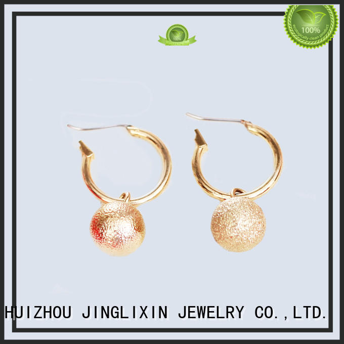Quality JINGLIXIN Brand rhinestones earrings zinc