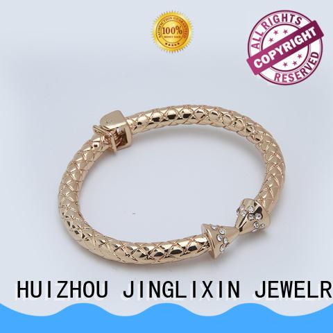 JINGLIXIN new style custom metal bracelets Suppliers for ladies
