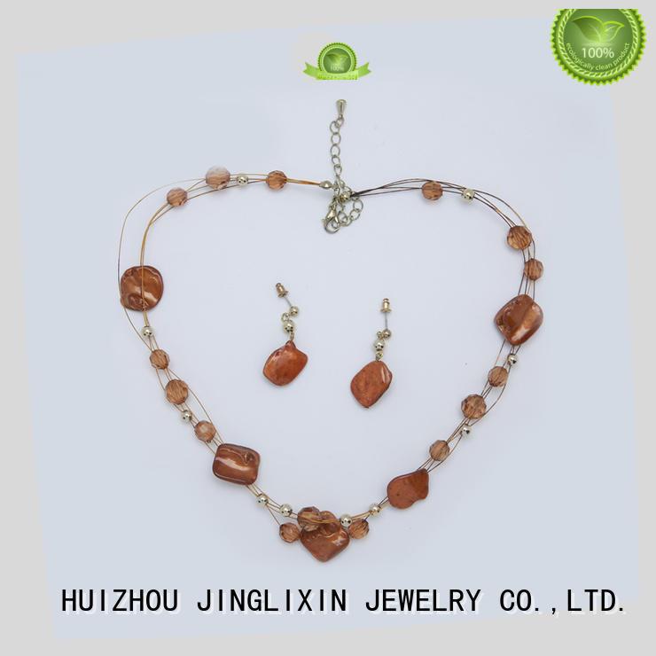 custom design fashion jewelry sets cheap with name JINGLIXIN