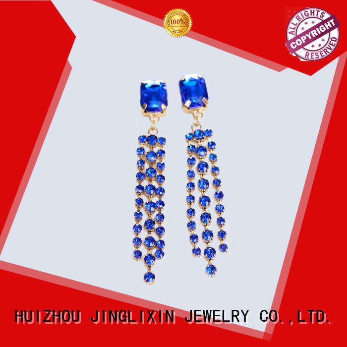 JINGLIXIN resin wholesale fashion earrings with name for sale