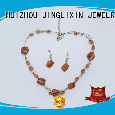 JINGLIXIN white gold jewelry sets laser engraving for party