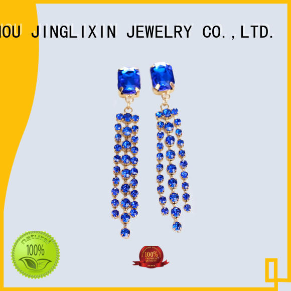 JINGLIXIN claw copper earrings laser engraving for ladies