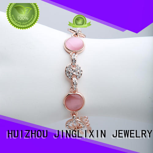 alloy rhinestones wholesale bracelets czech plated JINGLIXIN company