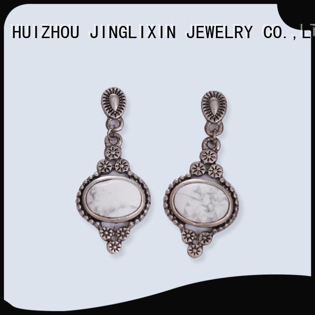 JINGLIXIN chandelier wholesale fashion earrings laser engraving for ladies