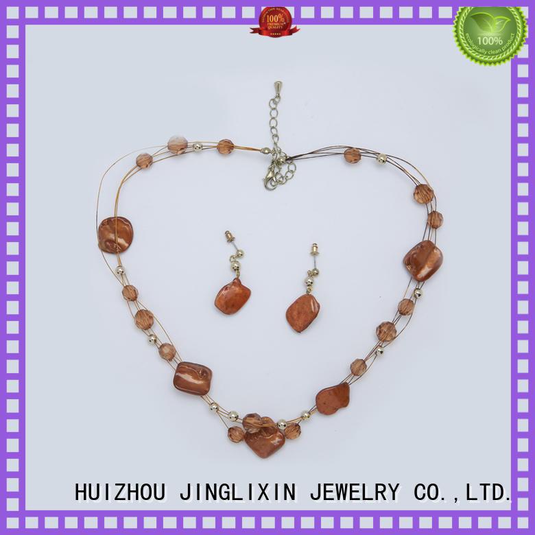 custom design fashion jewelry sets cheap hardware in beautiful gift box JINGLIXIN