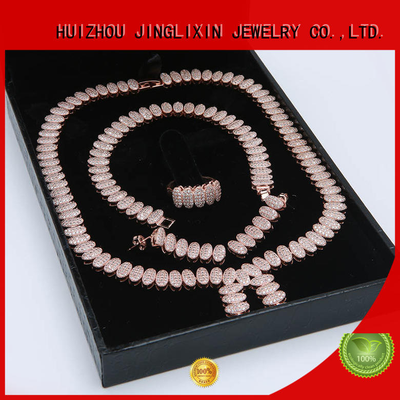 best prom jewelry sets laser engraving in beautiful gift box JINGLIXIN
