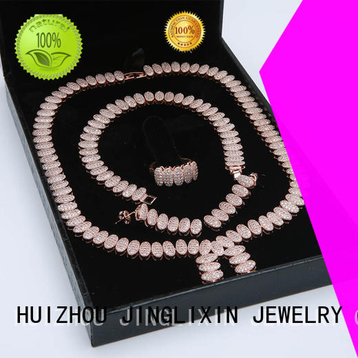 Custom Rose gold zircon Diamond hardware jewelry set