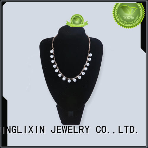 JINGLIXIN white rhinestones necklace laser engraving for party