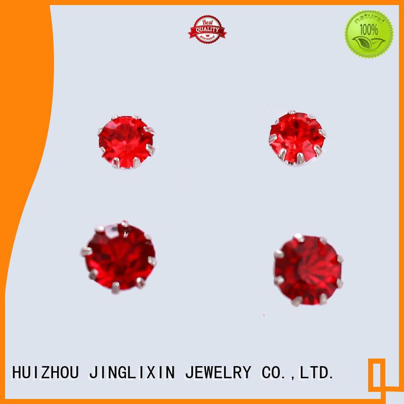 JINGLIXIN alloy fashion jewelry earrings laser engraving for sale