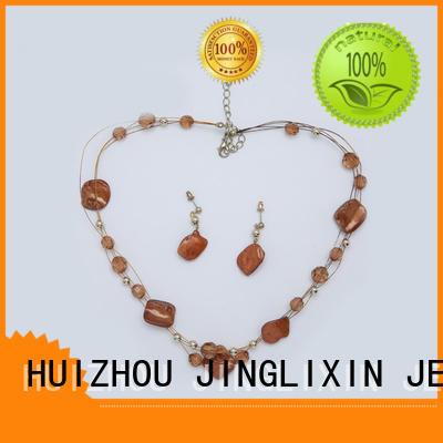 diamond gold shellmaterial wholesale jewelry sets JINGLIXIN Brand company