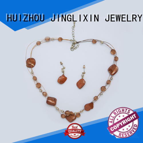 black and gold jewelry set laser engraving for party JINGLIXIN