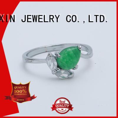 imitation semiprecious rose JINGLIXIN Brand wholesale fashion rings