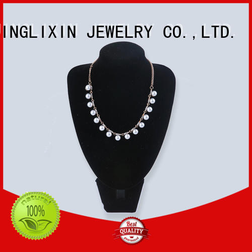 JINGLIXIN abs beads zircon necklace laser engraving for wife