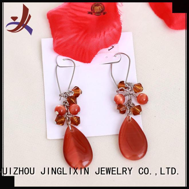Hot rhinestones earrings plated JINGLIXIN Brand
