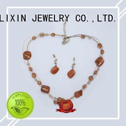 JINGLIXIN plated wholesale jewelry sets laser engraving in beautiful gift box