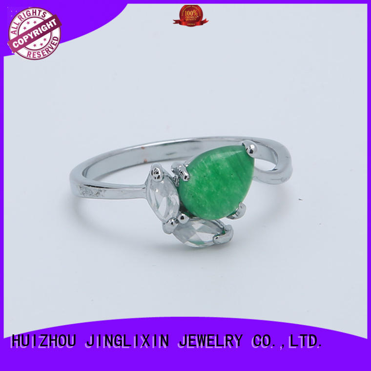 silver custom diamond rings hot sale for male JINGLIXIN