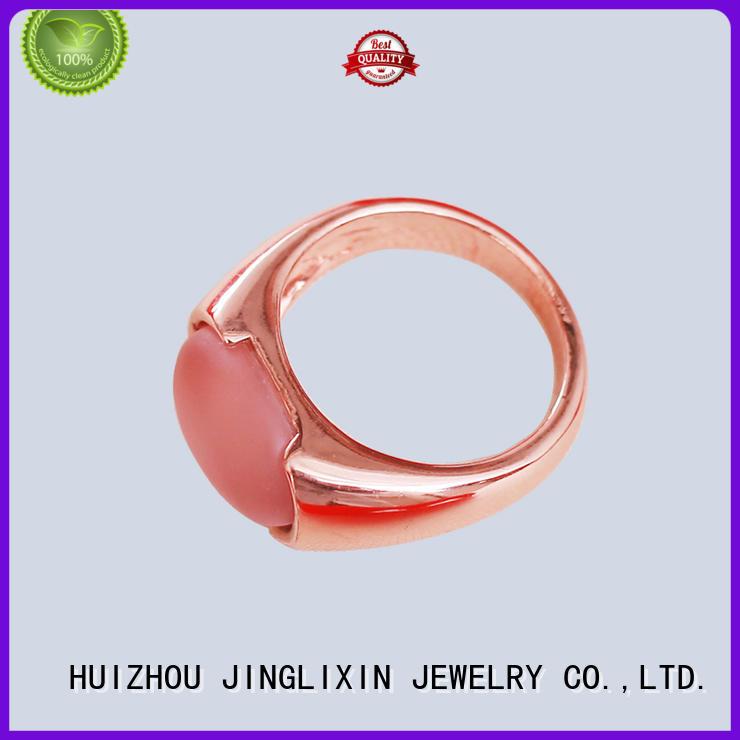 semiprecious pink diamond ring male sale JINGLIXIN