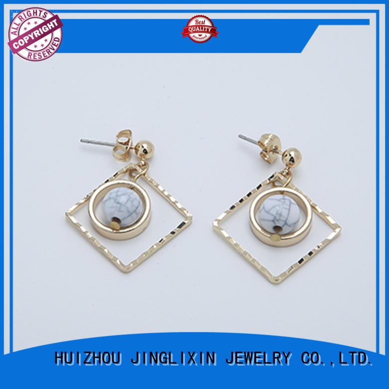 JINGLIXIN hot sale jewelry earrings oem service for women