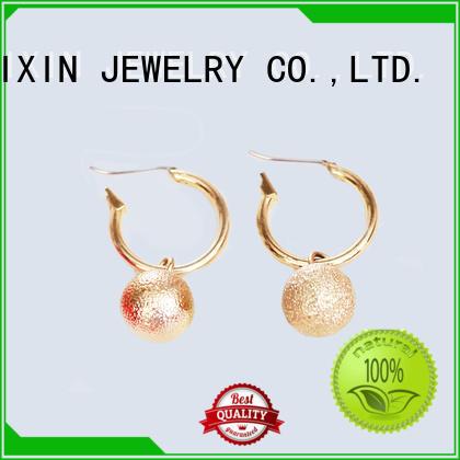 JINGLIXIN mattebeads diamond drop earrings odm service for ladies