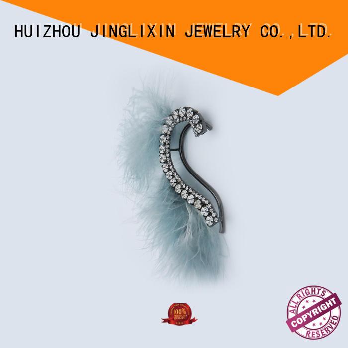 resin pearl drop earrings chandelier for ladies JINGLIXIN