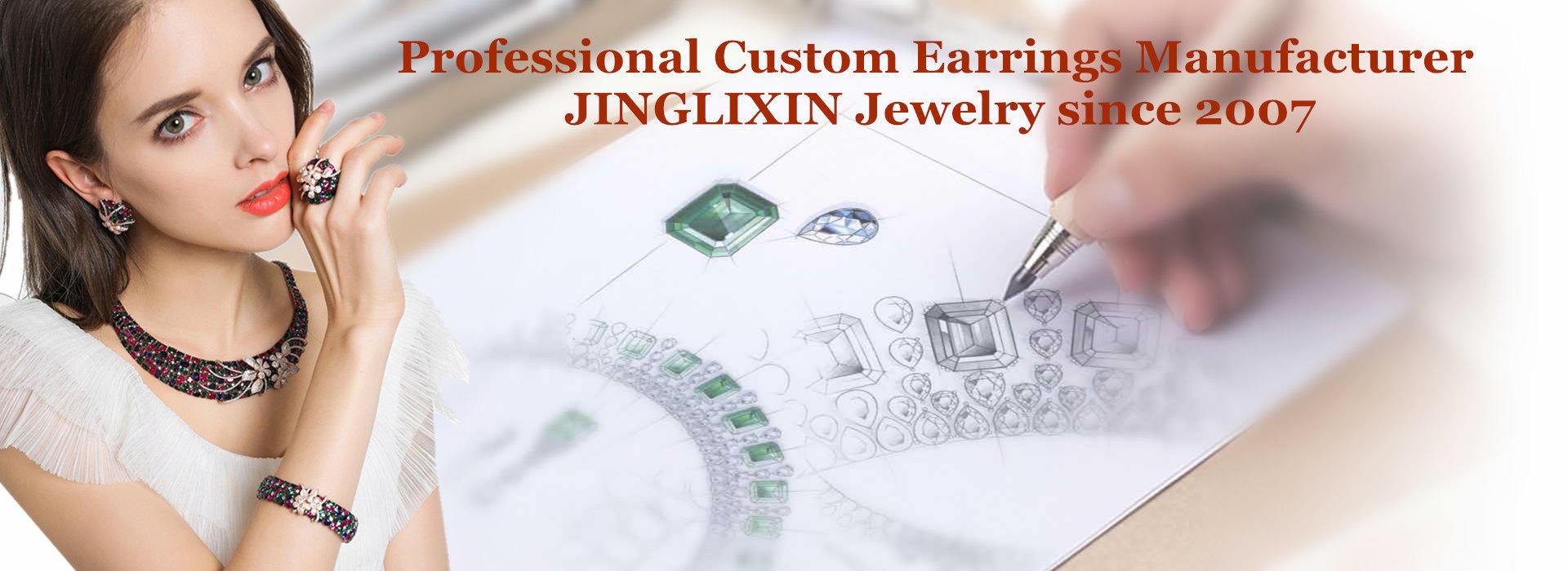custom name earrings factory, custom gold earrings supplier, custom earrings manufacturer