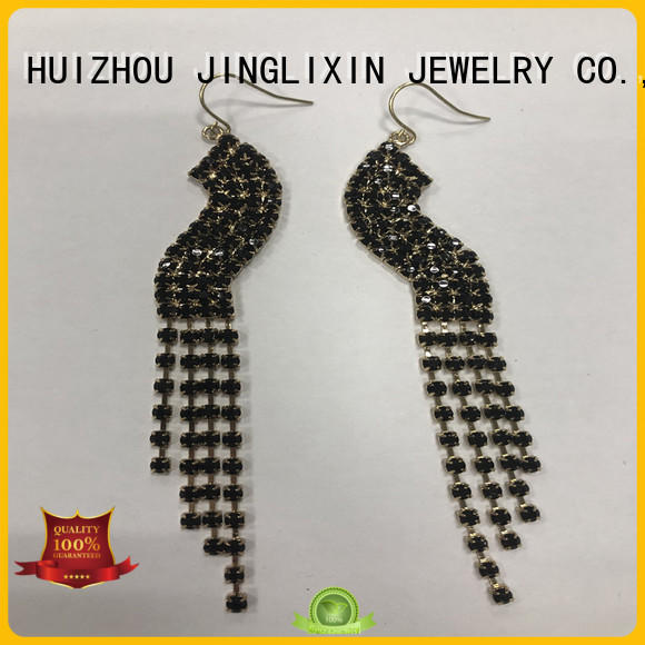 JINGLIXIN beads crystal earrings for present