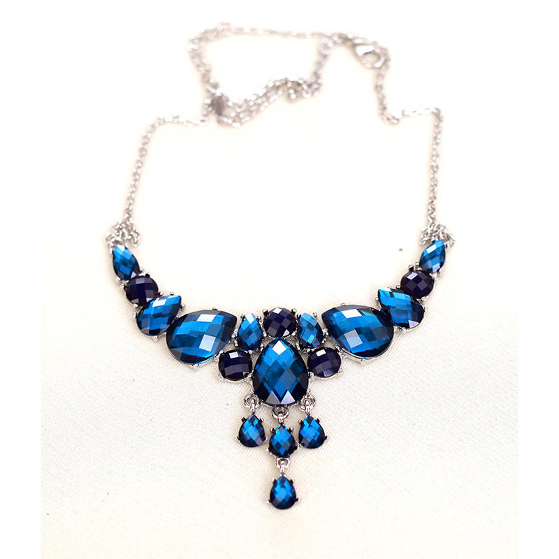 Blue-jewel necklace