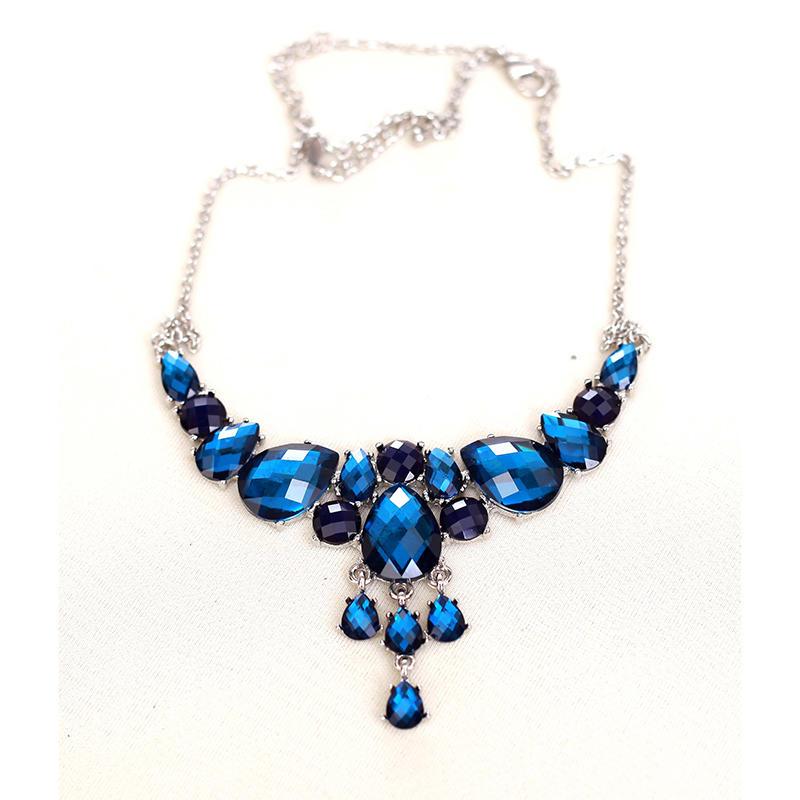 Blue-jewel necklace