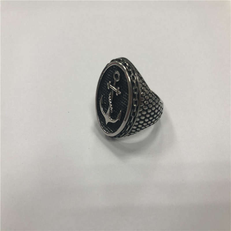 Anchor punk ring