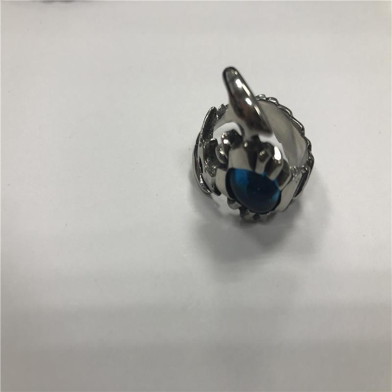 BlueGem Skull punk ring