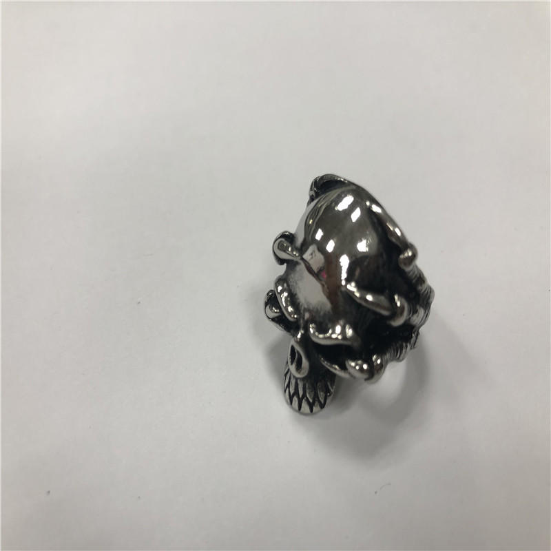 Ghost ying's claws Skull punk ring