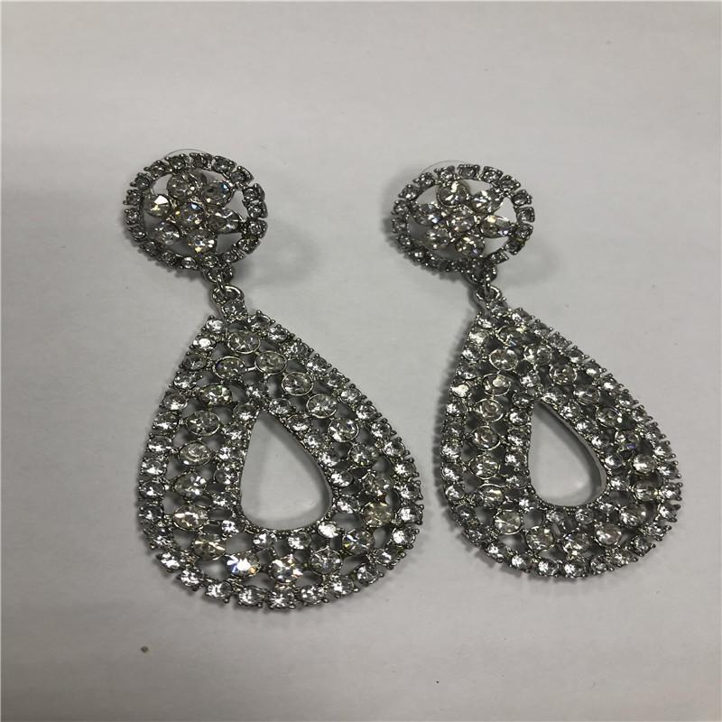 Custom resin diamond Pendant earrings