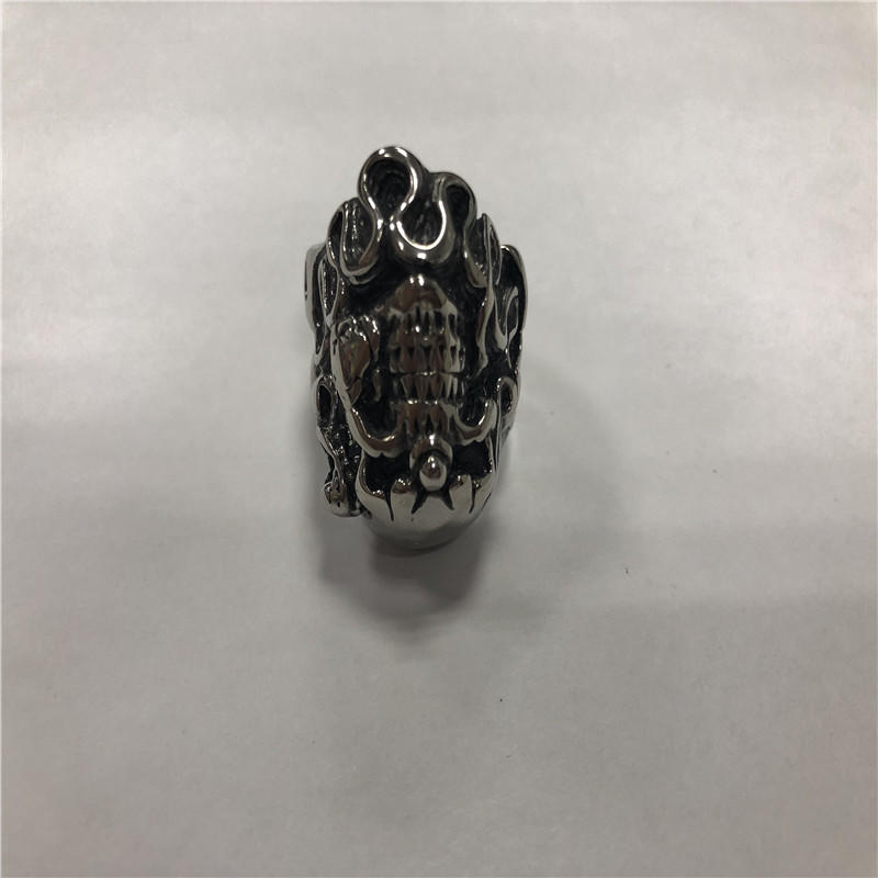 Unicorn skull ring