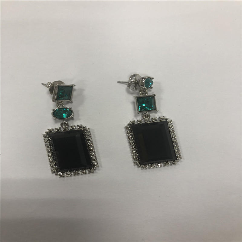 Geometric current earrings