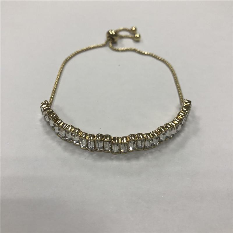 White acrylic pulls on vintage bracelets