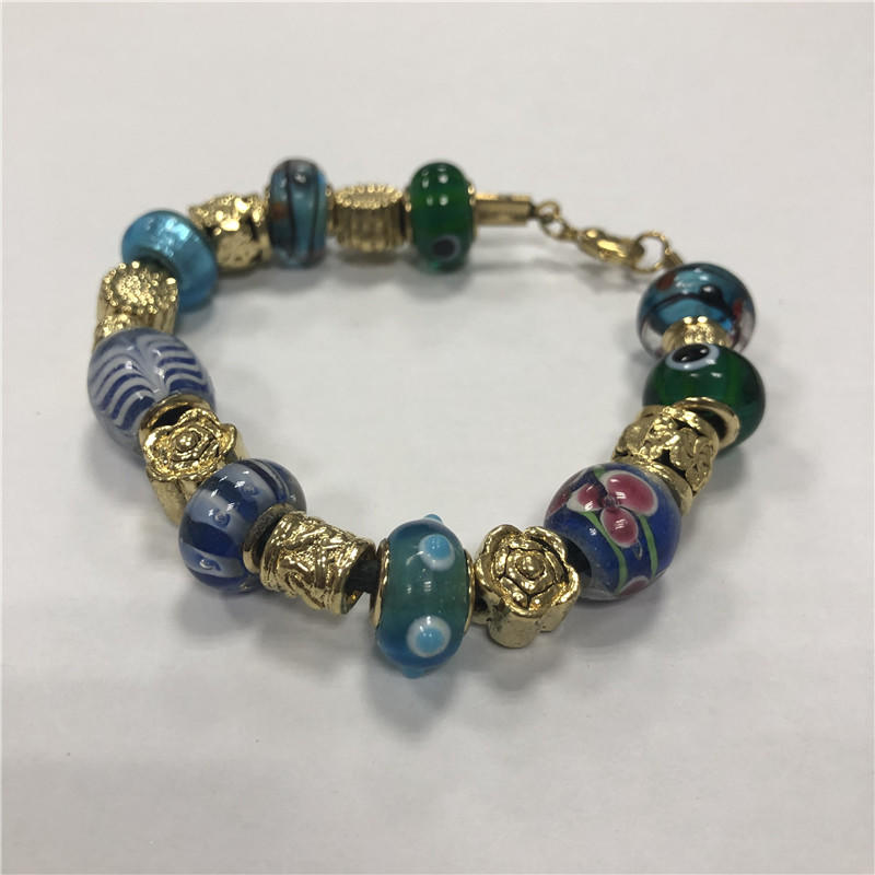 Natural lady stone beaded bracelet
