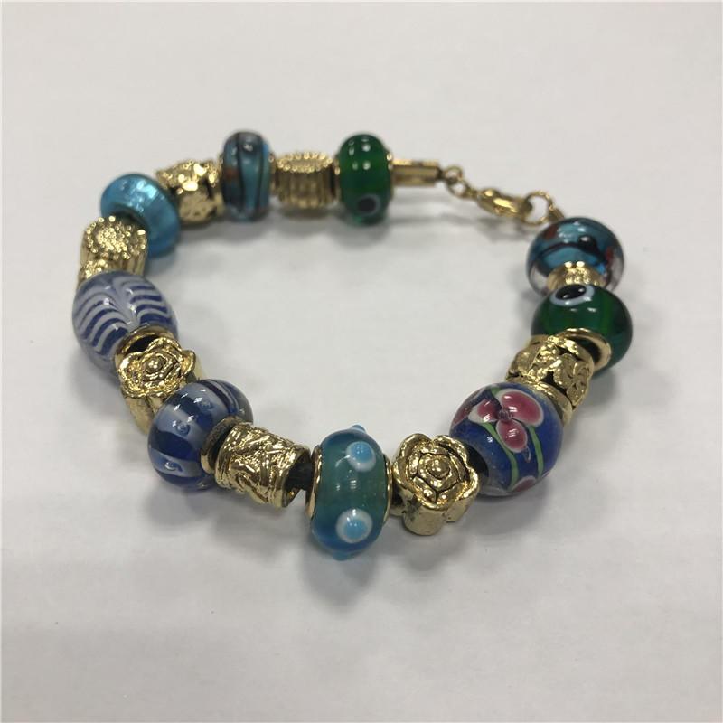 Natural lady stone beaded bracelet