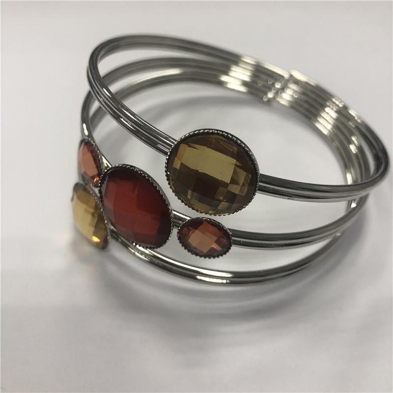 Stainless steel open bracelet