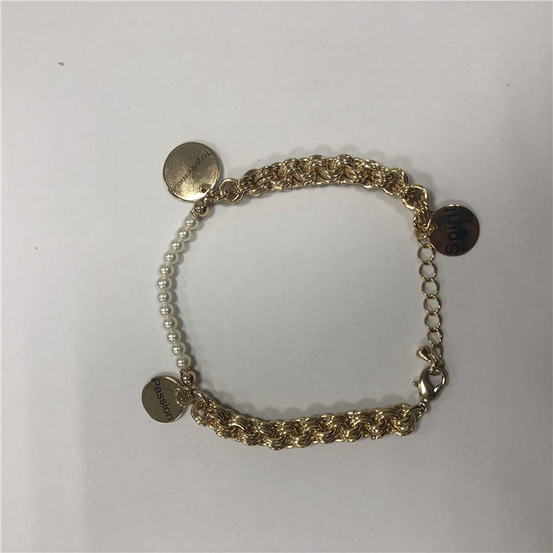 Alphabet pendant bracelet
