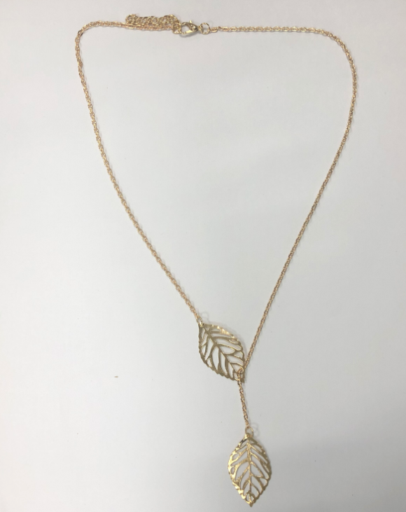 Double leaf joker necklace clavicle chain