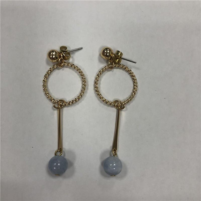 Fresh and sweet sapphire pendant earrings