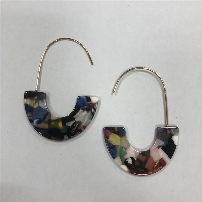 Foreign trade resin long earrings
