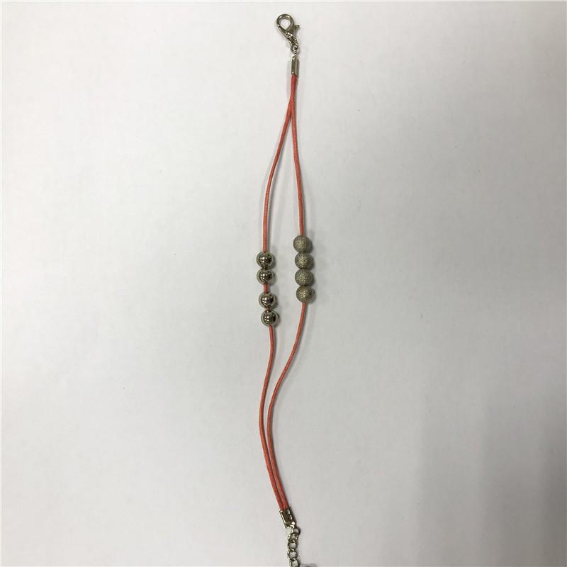 Red string bead bracelet