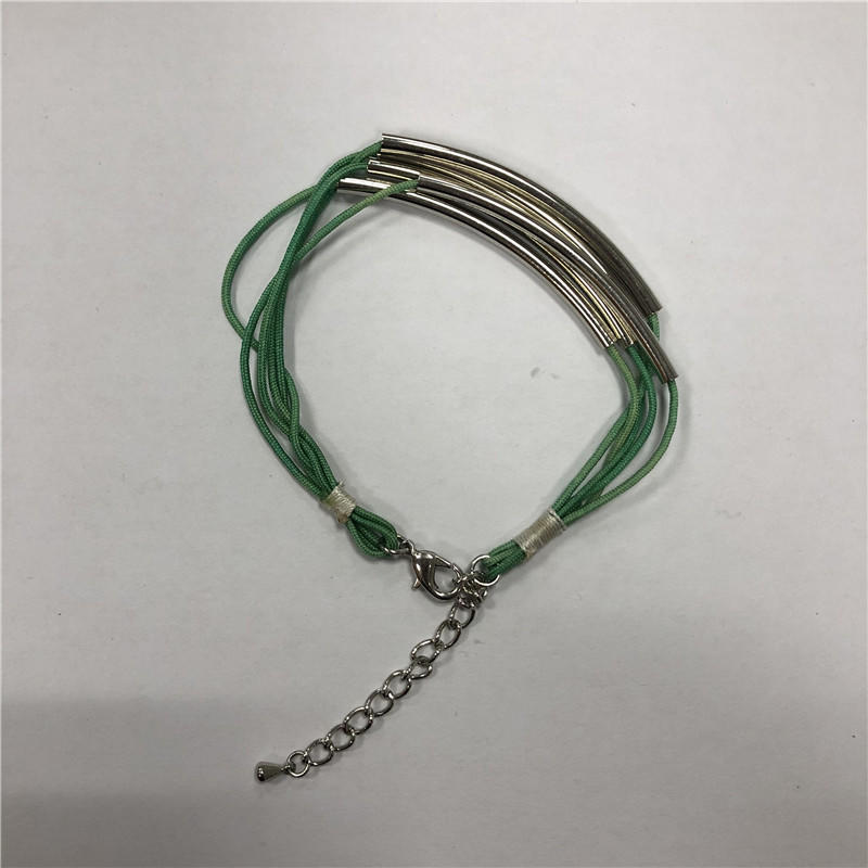 Multi-coil steel tube bracelet