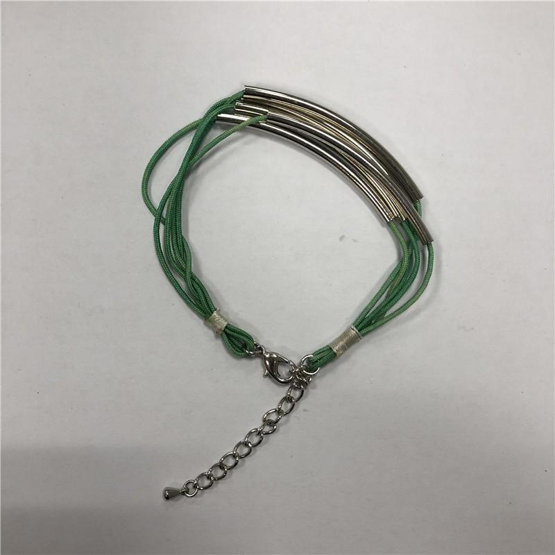Multi-coil steel tube bracelet