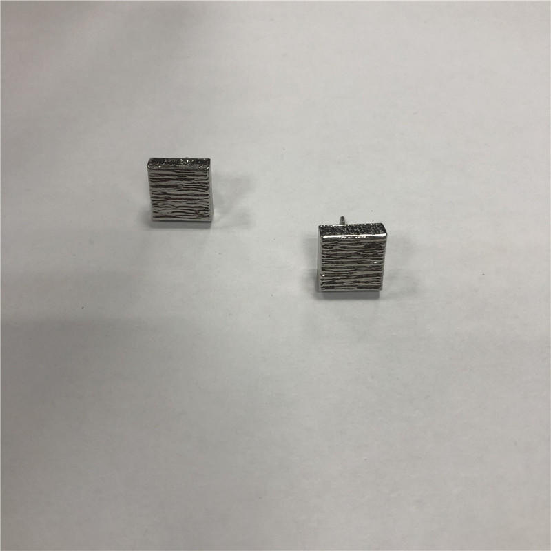 Square stud earrings with stainess steel