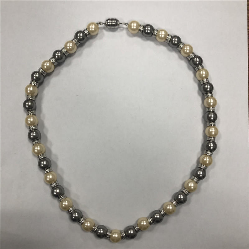 2 color mixed color natural 7-8MM freshwater pearl necklace 925 silver pearl necklace head jewelry,whole sale