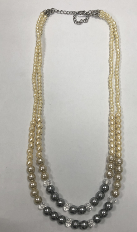 New Europe and the United States collar decoration Korea version temperament set diamond double pearl necklace manufacturers wholesale direct sale