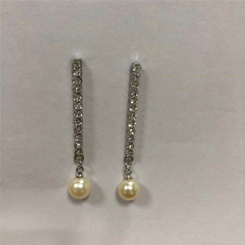 Simple temperament stainless steel jewelry earrings freshwater pearl is round 8-9 earrings Korean version earrings pearl jewelry