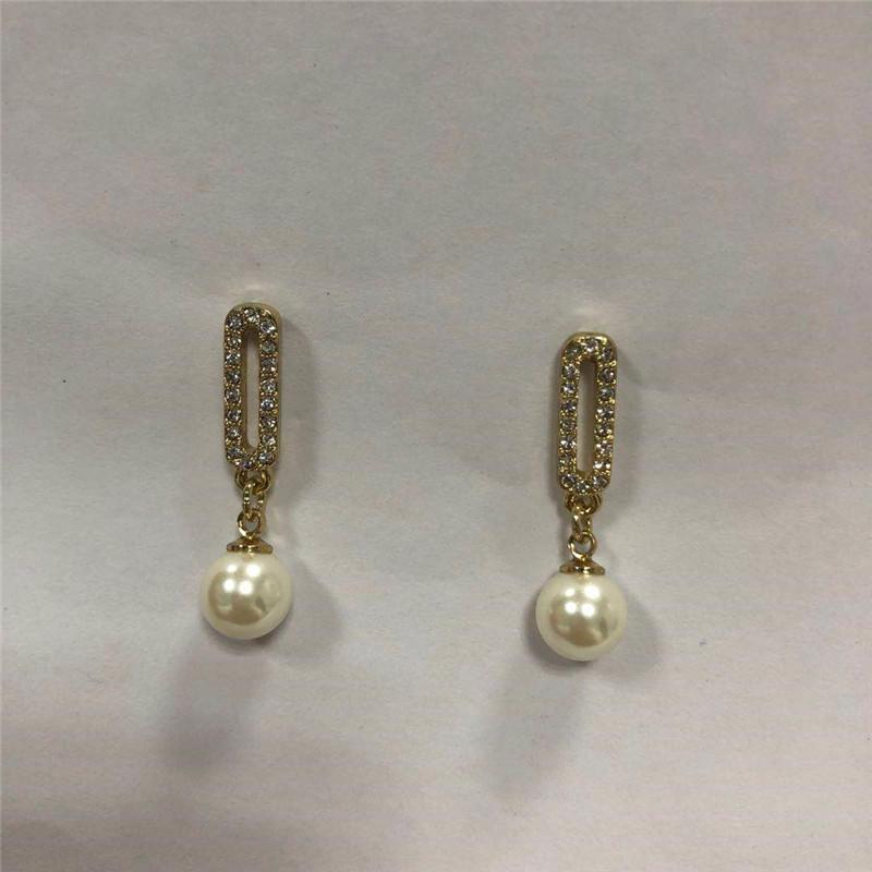 Spot direct wholesale set diamond only beautiful pearl eardrop Korean version earrings girls ears wholesale